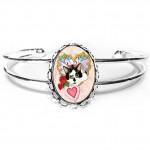 Cuff Bracelet - My Feline Valentine