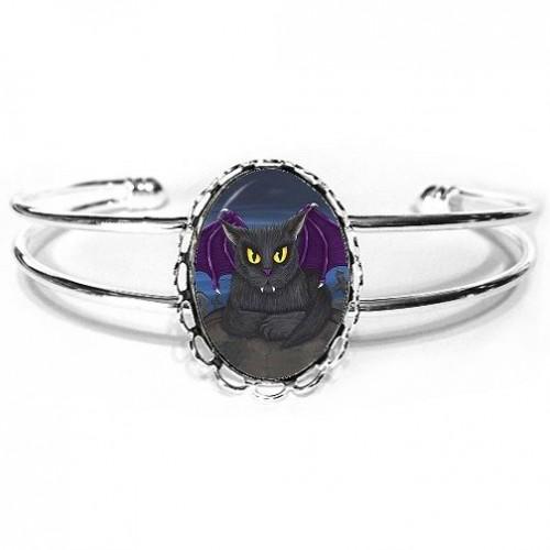 Cuff Bracelet - Vlad Vampire Cat