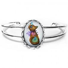 Cuff Bracelet - Voodoo Cat Doll