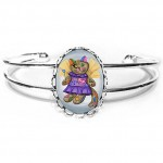 Cuff Bracelet - Voodoo Empress Fairy Cat Doll