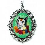 Cameo - Day of the Dead Cat Candles