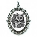 Cameo - Day of the Dead Cat Skull