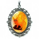 Cameo - Elemental Fire Fairy Cat