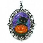 Cameo - Halloween Black Kitty