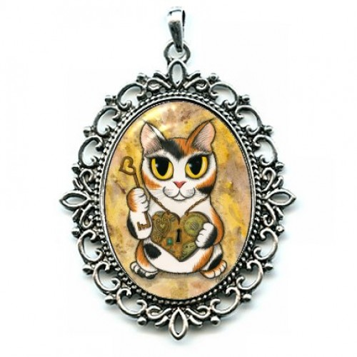 Cameo - Steampunk Valentine Cat