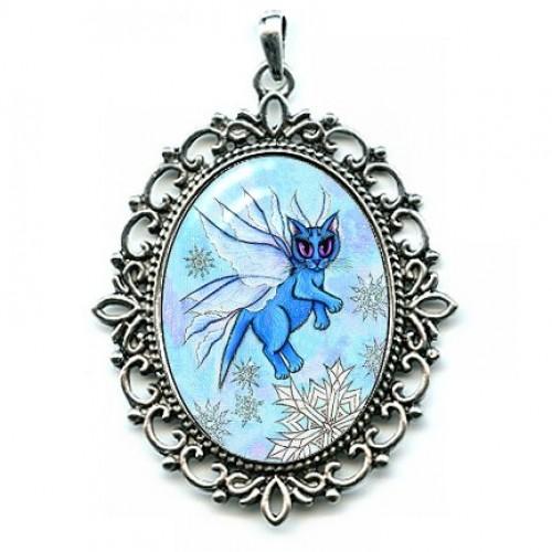 Cameo - Winter Snowflake Fairy Cat