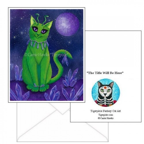 Note Card - Alien Cat