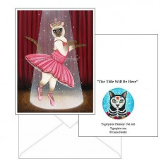 Note Card - Ballerina Cat