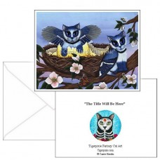 Note Card - Blue Jay Kittens