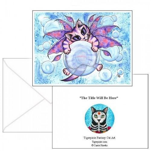 Note Card - Bubble Fairy Kitten