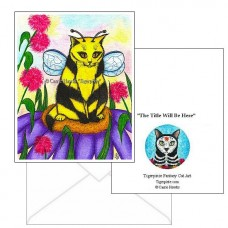 Note Card - Buzz Bumble Bee Cat