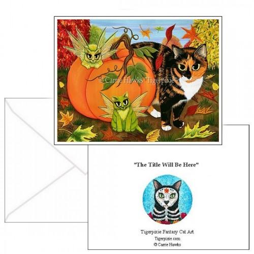 Note Card - Calico's Mystical Pumpkin