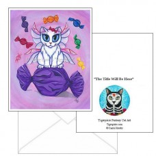 Note Card - Candy Fairy Cat, Hard Candy