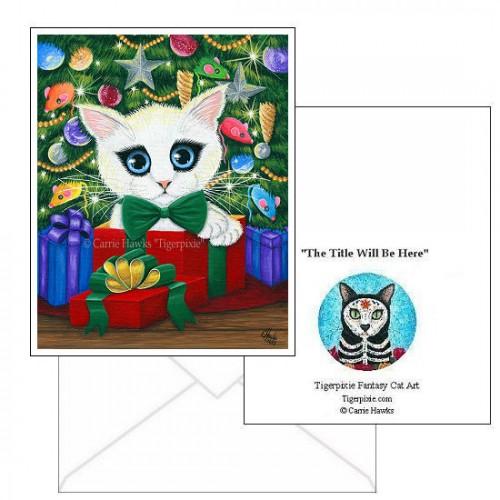 Note Card - Christmas Kitten Boy