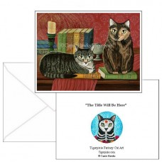 Note Card - Classic Literary Cats