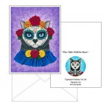 Note Card - Day of the Dead Cat Gal