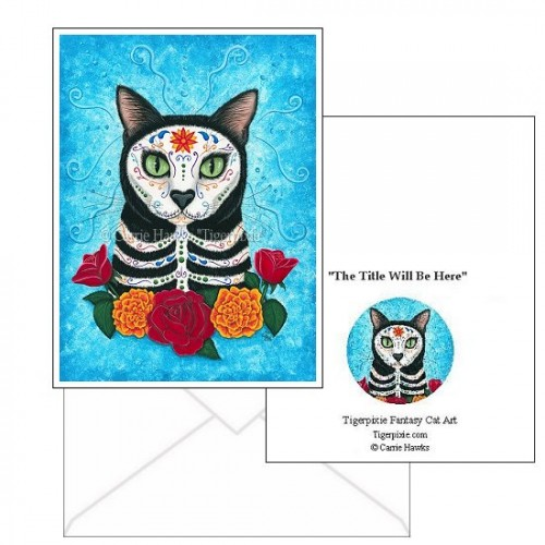 Note Card - Day of the Dead Cat