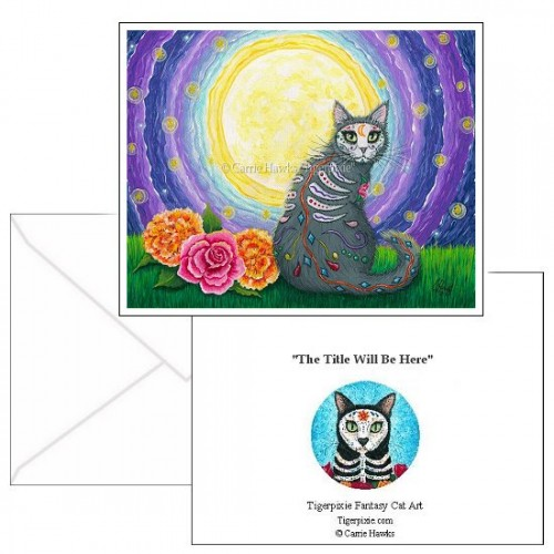 Note Card - Day of the Dead Cat Moon