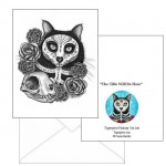 Note Card - Day of the Dead Cat Skull