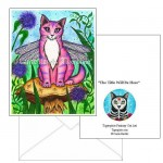Note Card - Dea Dragonfly Cat