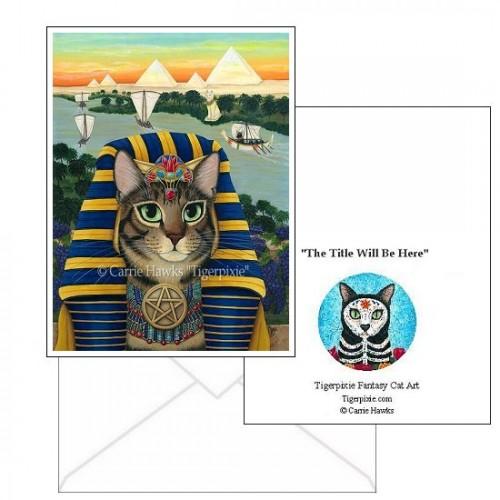 Note Card - Egyptian Pharaoh Cat