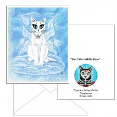 Note Card - Elemental Air Fairy Cat