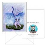 Note Card - Elemental Water Mermaid Cat