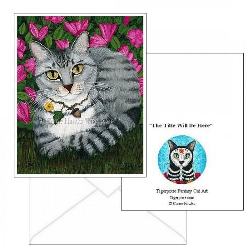 Note Card - Garden Cat