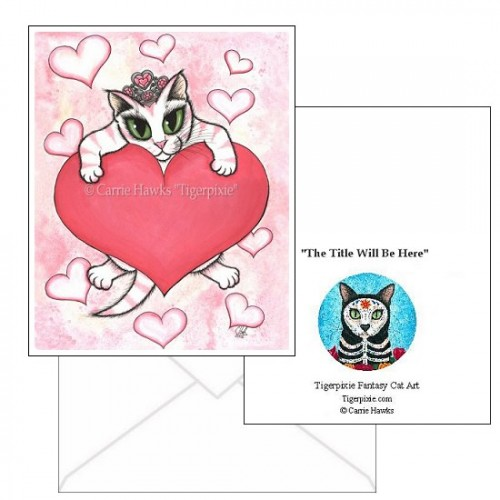 Note Card - Kitten With Heart