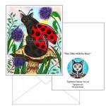 Note Card - Logan Ladybug Cat