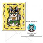 Note Card - Lil Mardi Gras Cat
