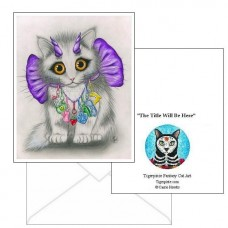 Note Card - Little Purple Horns