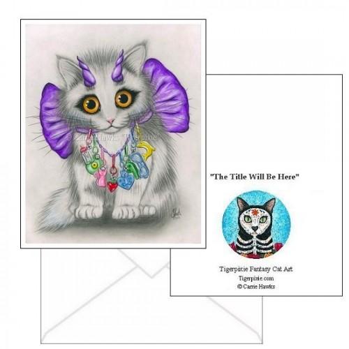 Note Card - Little Purple Horns