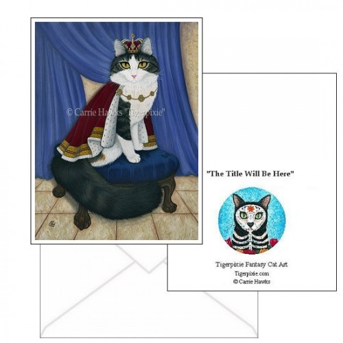 Note Card - Prince Anakin The Two Legged Cat