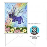 Note Card - Spring Showers Fairy Cat