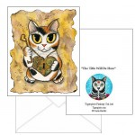 Note Card - Steampunk Valentine Cat