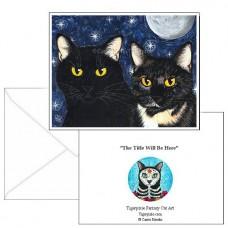 Note Card - Strangeling's Felines
