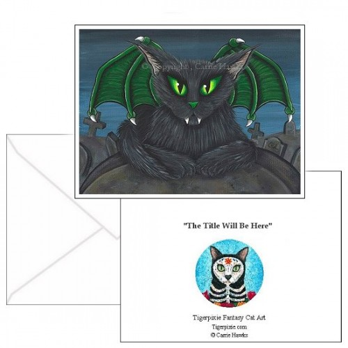 Note Card - Bela Vampire Cat