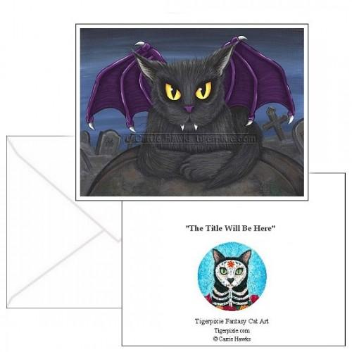 Note Card - Vlad Vampire Cat