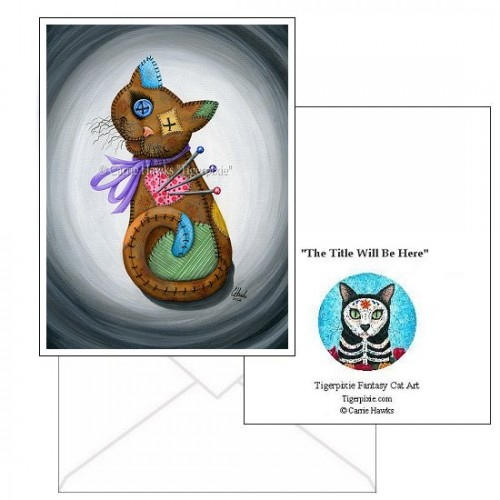 Note Card - Voodoo Cat Doll