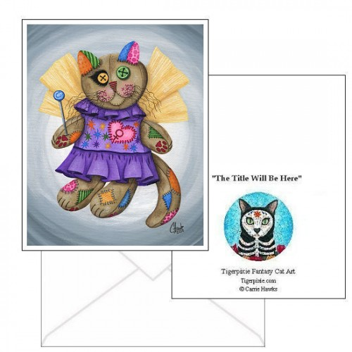 Note Card - Voodoo Empress Fairy Cat Doll