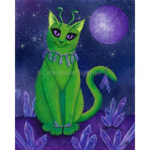 LE Canvas - Alien Cat