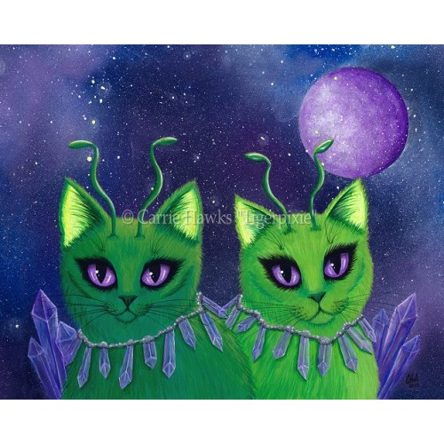 LE Canvas - Alien Cats