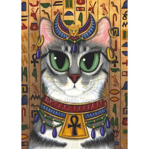 Bast Goddess Cat Egyptian Mau Bastet Egypt Art Print Tigerpixie