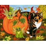 Prints - Calico's Mystical Pumpkin