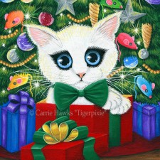 New Art! Christmas Kitten! New Pins In Stock! 20% Off Holiday Sale Continues! HAED Cross Stitch Charts 50% Off