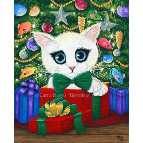 LE Canvas - Christmas Kitten Boy