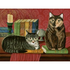 LE Canvas - Classic Literary Cats