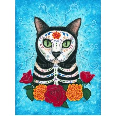 LE Canvas - Day of the Dead Cat