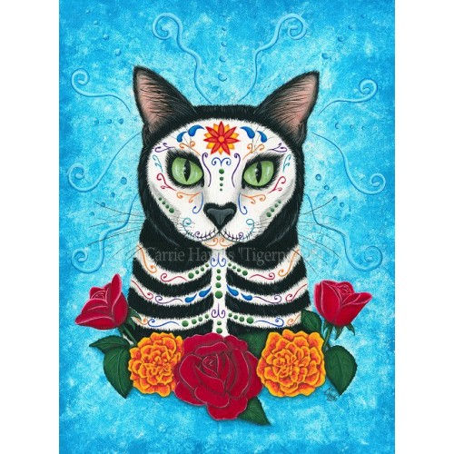 Prints - Day of the Dead Cat